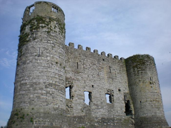 Carlow Castle, located at Carlow, County Carlow, Republic of Ireland.