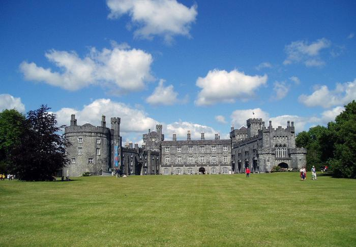 Kilkenny Castle (Irish: Caisleán Chill Chainnigh) is a castle in Kilkenny, Ireland built in 1195 to control a fording-point of the River Nore and the junction of several routeways.