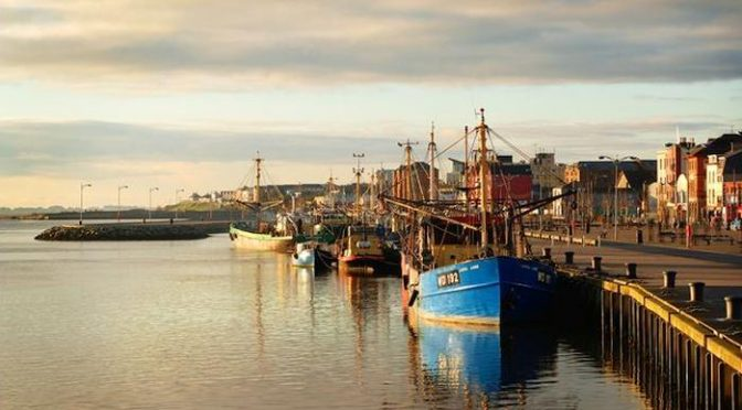 'Wexford Harbour in County Wexford (Irish: Loch Garman) Ireland, is the natural harbour at the mouth of the River Slaney.
